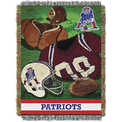 (NEW ENGLAND PATRIOTS Blanket Jacquard Tapestry 60 x 48 Throw Wall Hanging Woven )
