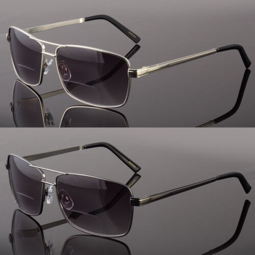Men's Classic BIFOCAL Sunglasses Metal Driving Glasses Aviat
