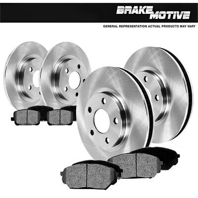 For Chrysler 300M Concorde Dodge Intrepid Front+Rear Rotors Metallic Pads