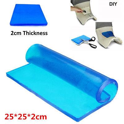 2cm Thickness Polyurethane Elastic Fiber Gel Pad Motorcycle Seat Cushion 25*25cm