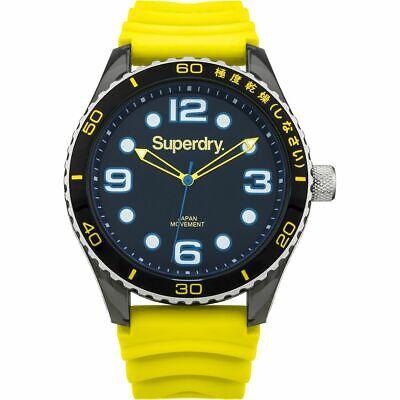 Superdry Tokyo Sport SYG163Y Men's Rubber Strap Watch