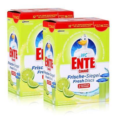 2x WC Ente Frische Siegel Nachfüller Limone