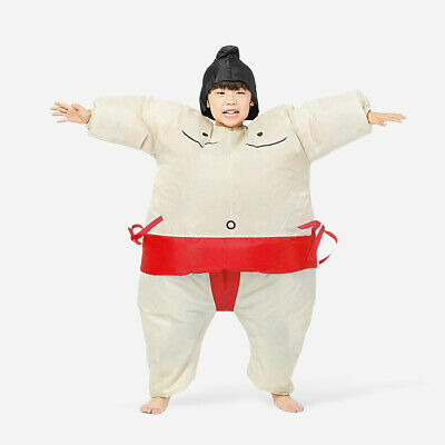 Adult Sumo Costume (Blow Up Sumo Costume for Kid Adult Hen Party Japan Wrestler Fat Man Suit)