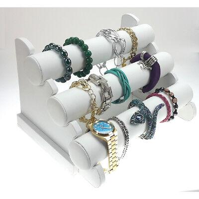 Band Organizer (Schmuckständer Armbandständer Armbandhalter Uhrenaufsteller Organizer weiß)