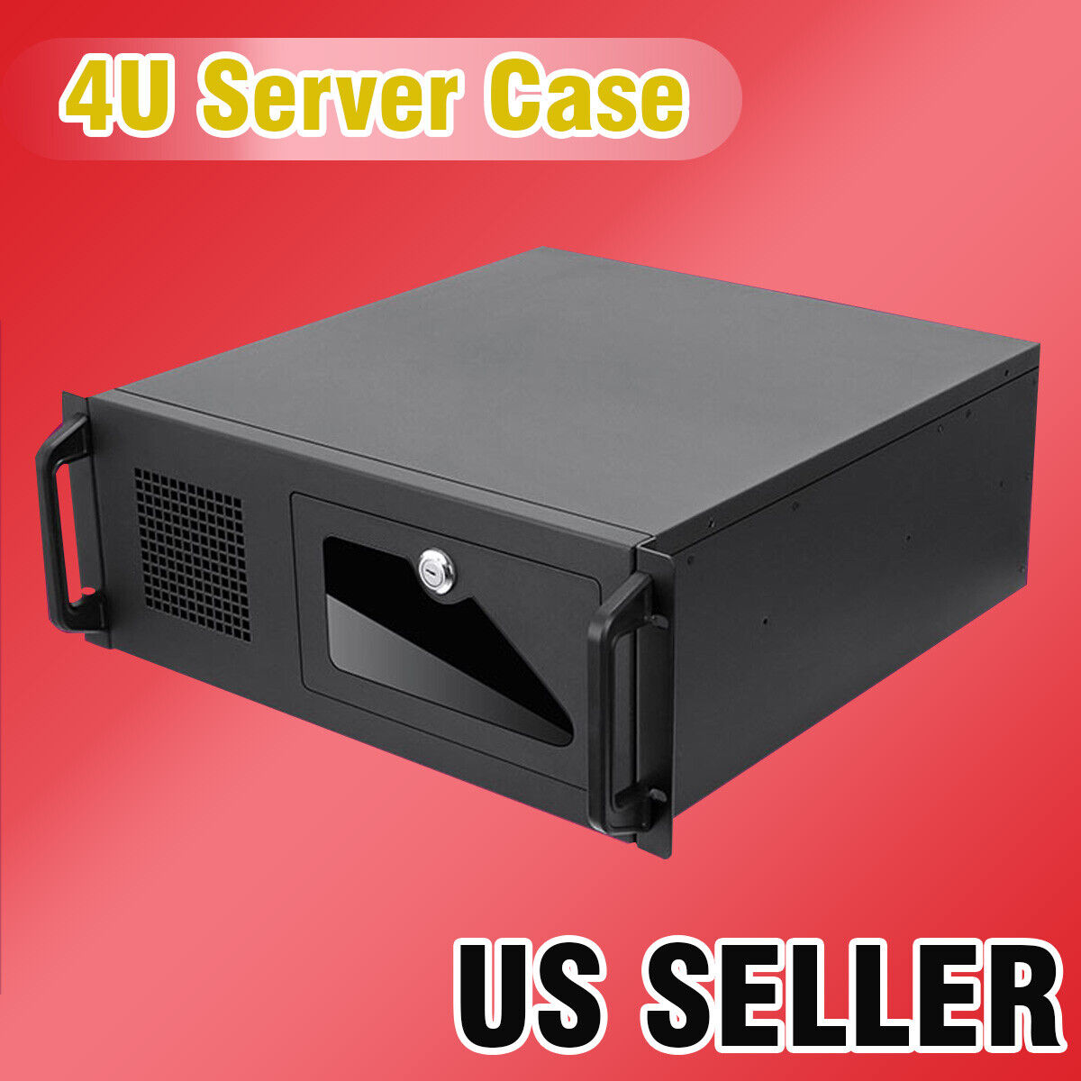 US Seller 4U Rack mount Industrial  Server/Computer  Case with Fans Computers/Tablets & Networking