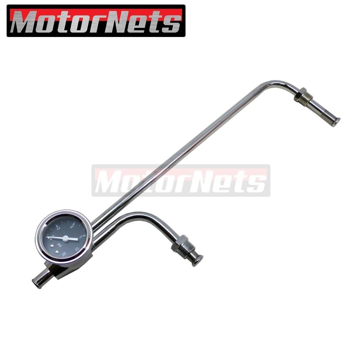 "8-21//32/"" Centres Chrome fuel line-Holley 3310-3//8/"" Tube"