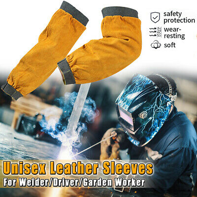 Welding Welder Arm Protector Cowhide Sleeves Heat Resistant Protection Equipment