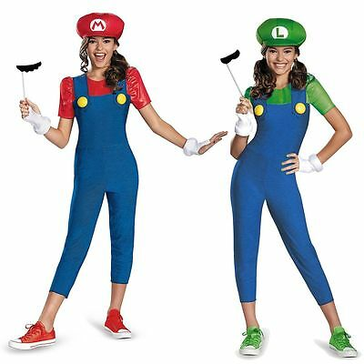 Mario and Luigi Costumes Kids Female Super Mario Bros Halloween Fancy Dress](Mario And Luigi Girls)