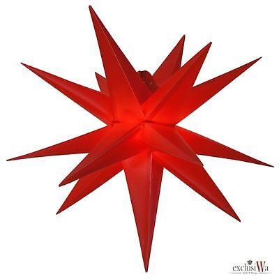 55 cm - Außenstern Komplettset Adventsstern Weihnachtsstern 3D Faltstern - rot