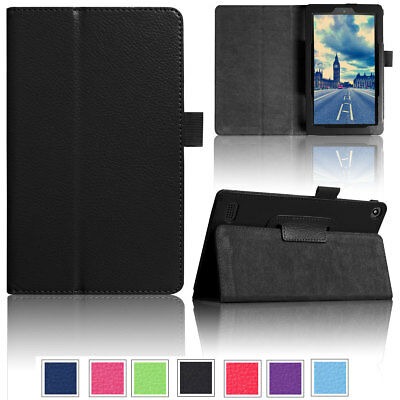PU Leather Smart Case For Amazon Kindle Fire HD 10 8 7 7th Gen 2017 Tablet Case ()