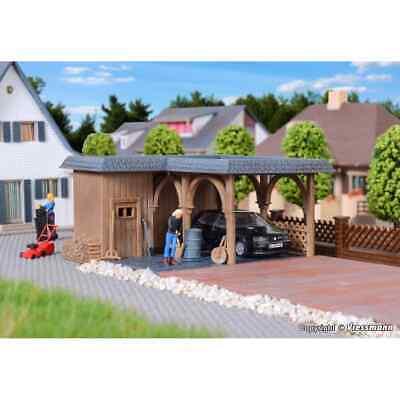 Vollmer 45127 1/87 H0 Maqueta Kit Caseta Jardín Con Parking Ho