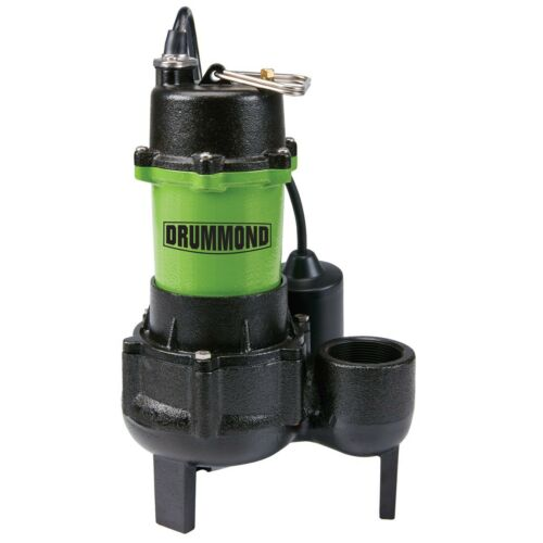 Pump Sewage Submersible Sewage Pump with Tether Switch - 1/2 HP
