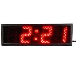 Large 5'' LED Race Timing Clock Count Down/Up In Minutes Seconds Remote Control