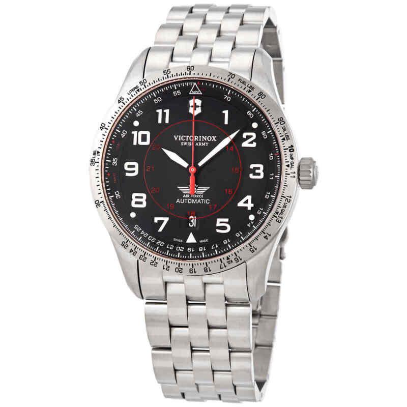 Victorinox Ariboss Automatic Black Dial Men Watch 241888