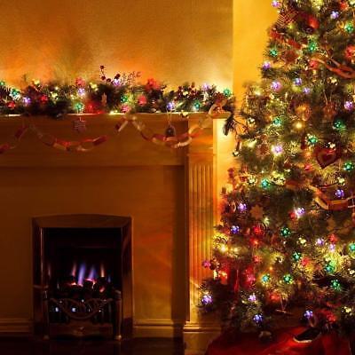 Christmas Flower Fairy String Lights 100-LED  Battry Outdoor RGB Xmas Blossom ](Flower Christmas Lights)