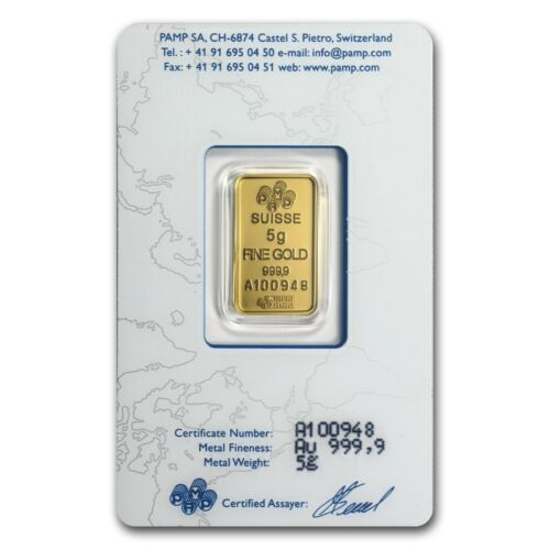 5 gram Gold Bar - PAMP Suisse Lady Fortuna (In Assay) - SKU #19043