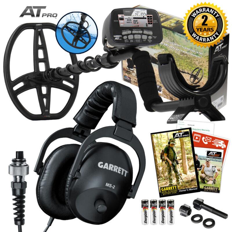 Garrett AT Pro Underwater Waterproof Metal Detector w/ DD Coil &MS-2 Headphones