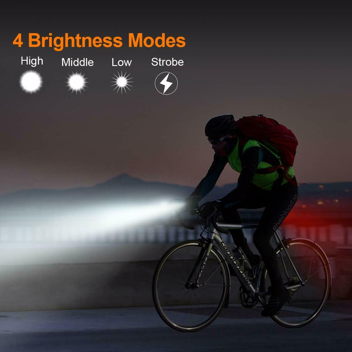 Luces de para bicicletas accesorios bicicletas USB recargable impermeable
