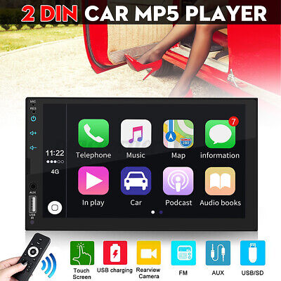 7'' 2 Din Car Radio Stereo MP5 Player GPS bluetooth AUX Touch Screen Androiod UK