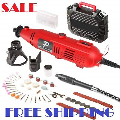 107 Piece Best Tool Kit Set Variable Speed Rotary Grinder Cutter Accessories