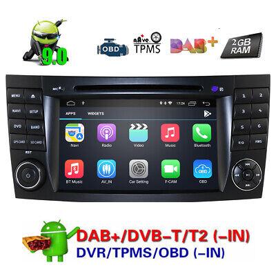DAB+Autoradio Android 9.0 GPS DVD+4G für Mercedes Benz CLS/E/G-Klasse W211 W463
