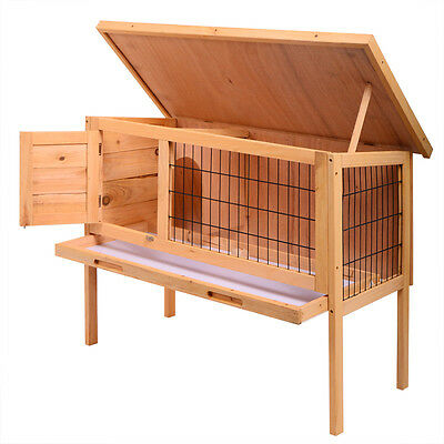 Wooden Chicken Coop 35'' Hen House Rabbit Wood Hutch Poultry Cage Waterproof