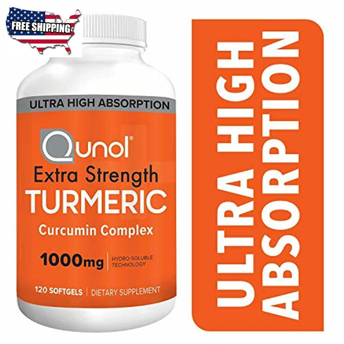 Turmeric Curcumin Softgels, Qunol with Ultra High Absorption