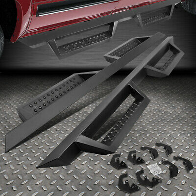 "FOR 07-19 SILVERADO SIERRA CREW CAB PAIR 4.5"" SIDE STEP RUNNING BOARD NERF BAR"