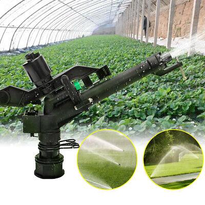 5.5 Plastic Irrigation Garden Impact Lawn Sprinkler Gun 5 Spray Nozzles He