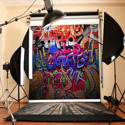 2.1x1.5M Foto Hintergrund Hintergrundstoff Fotostudio Bunt Graffiti