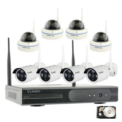 Business Familiar with Outdoor Surveillance Wireless Security Camera System with 1TB HDD