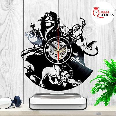Disney Lion King Simba Vinyl Record Wall Clock Bedroom Art Decor Birthday Gift