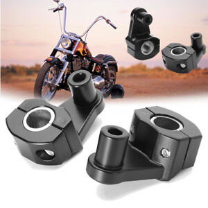 New Motorcycle HandleBar Handle Fat Bar Mount Clamps Riser Universal 7/8'' 22mm