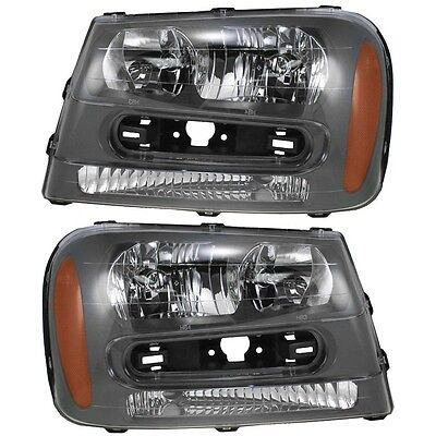 2002 2003 2004 2005 CHEVROLET TRAILBLAZER HEAD LIGHT LAMP PAIR RIGHT & LEFT