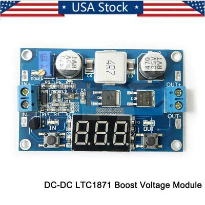 Ltc1871 100w Dc Boost Step-up Adjustable Voltage Power Converter Led Voltmeter D