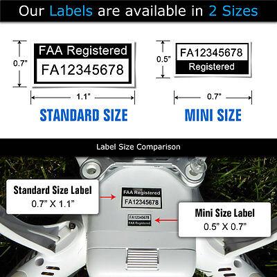 Drone FAA UAS Certificate of Registration ID Card + Label set - Hobbyist Pilot