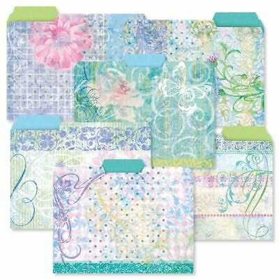 Colorful Assorted Floral File Folders Set Of 24 6 Designs Documents Storage New