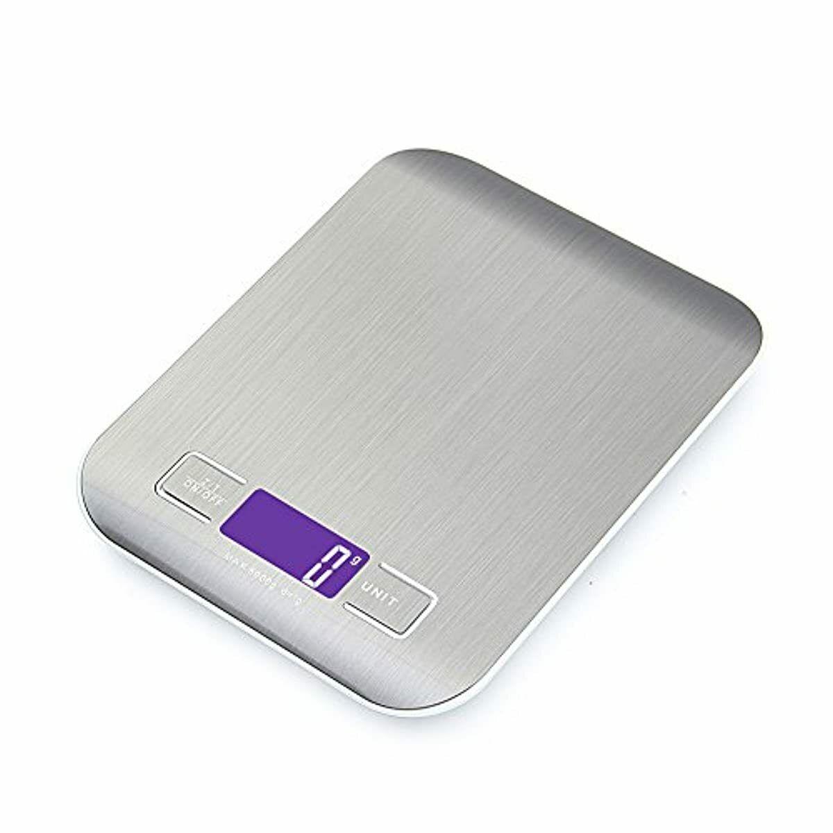 GPISEN Bilancia da Cucina Smart Digitale con Funzione Tare,5kg/11 lbs Profession