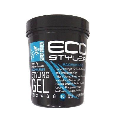 Maximum Hold Gel ((9,50€/1l) Ecostyler Styling Gel Super Protein - Maximum Hold 32oz - 946ml)