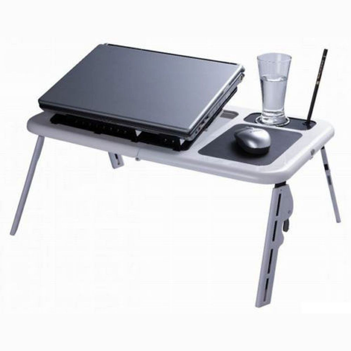 Portable folding laptop desk adjustable computer table for Table console retractable