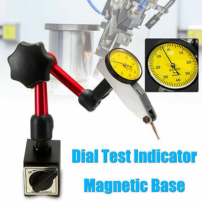 Dial Test Indicator Gauge Scale Precision Magnetic Holder Base Stand Flexib I1J2