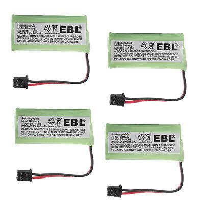 4x 900mAh BT-1008 Phone Battery for UnidenBT-1016 BT-1021 BT-1025 WITH43-269 USA