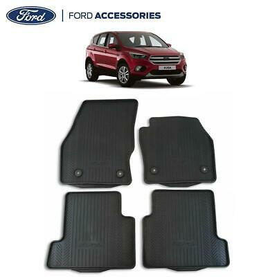 Car Parts - Genuine Ford Kuga Mk2 Front & Rear Rubber Floor Mats W/ Vehicle Logo 15- 1928463