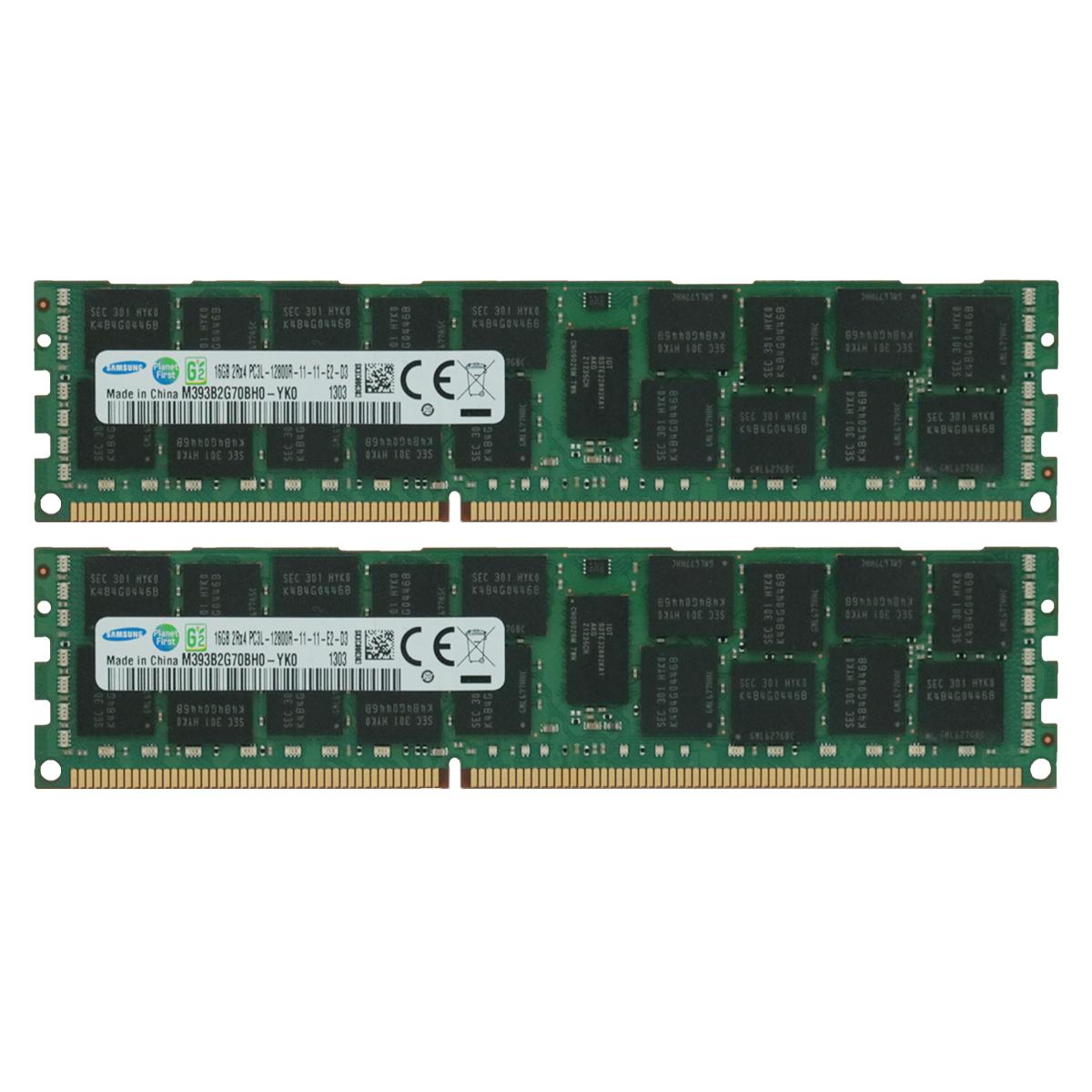 Samsung 32GB 4x8GB PC3L-12800R DDR3 1600MHz 1.35v ECC Registered Server Memory