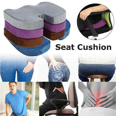 US Memory Foam Cushion Pad Chair Lumbar Seat Pain Relief Pillow Back Non Slip ()