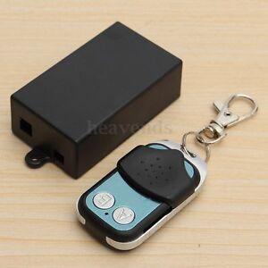 DC 12V 2 Kanal Wireless RF Schalter Fernbedienung Sender Empfänger Transceiver