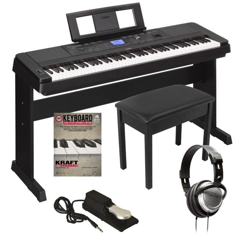 Yamaha DGX-660 Portable Grand Digital Piano - Black KEY ESSENTIALS BUNDLE