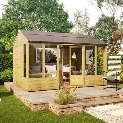 12 x 8 Hobbyist Summerhouse with Long Windows OSB Roof and Floor...