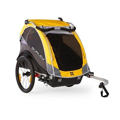 Burley Cub Child Trailer-Bicycle Child Carrier-100lb Capacity-Yellow-New