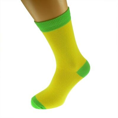 Yellow Mens Socks with Lime heal and toes, popular Wedding Day Socks...